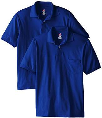 Hanes Men's Short-Sleeve Jersey Pocket Polo (Pack of 2)