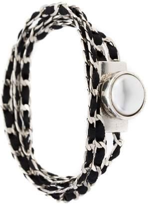 Camila Klein suede details chain bracelet