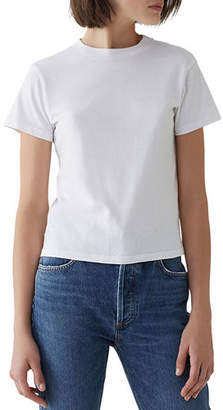A Gold E AGOLDE Short-Sleeve Cotton Cropped Baby Tee