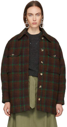Isabel Marant Brown Check Wool Harvey Jacket