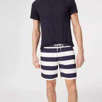 Club Monaco Bo Stripe Swim Trunk