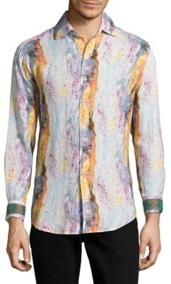 Printed Linen Shirt $298 thestylecure.com