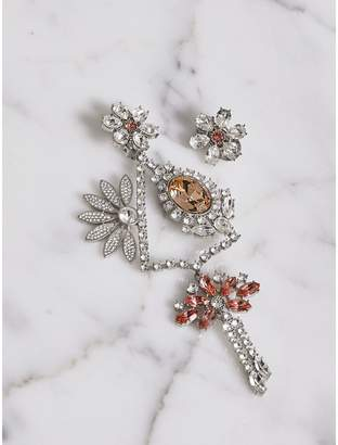 Burberry Crystal Daisy Chandelier Earring and Stud Set