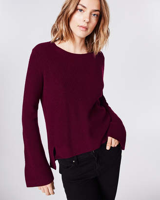 Nicole Miller Cashmere Bell Sleeve Sweater