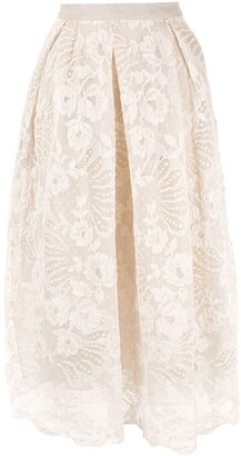 Biyan lace midi skirt