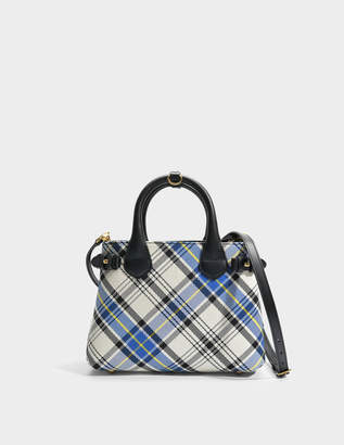 Small Banner Mix Tartan Bag in Chalk White Cotton Burberry xqJrC