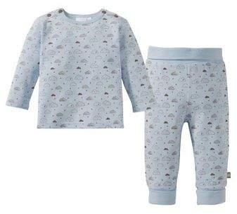 BORNINO Schlafanzug lang Baby-Pyjama Baby-Nachtwäsche NEU blau rosa
