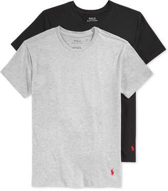 Polo Ralph Lauren Boys' or Little Boys' 2-Pack Crew-Neck Undershirts $11.98 thestylecure.com