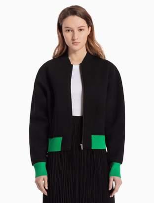 Calvin Klein modal knit sculpted bomber jacket