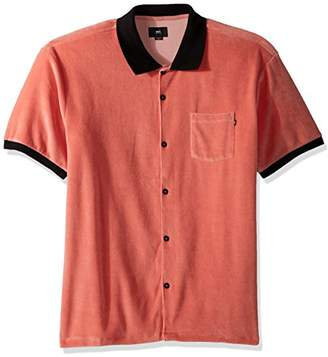 Obey Men's Catalina Short Sleeve Button Front Polo Shirt