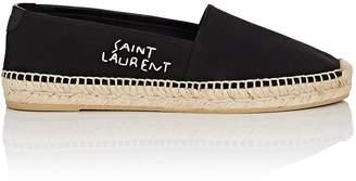 Saint Laurent Women's Logo-Embroidered Canvas Espadrilles
