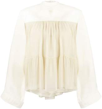 Chloé tiered ruffled blouse