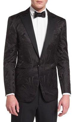 Ralph Lauren Tonal Art Deco Jacquard Tuxedo Jacket, Black $2,495 thestylecure.com