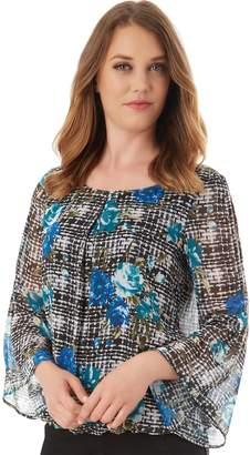 Apt. 9 Women's Chiffon Bell Sleeve Top