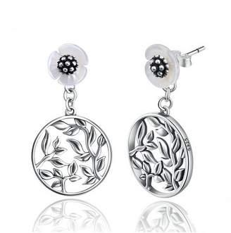 PAHALA 925 Sterling Silver 2 Wearing Styles Flowers Party Wedding Stud Earring