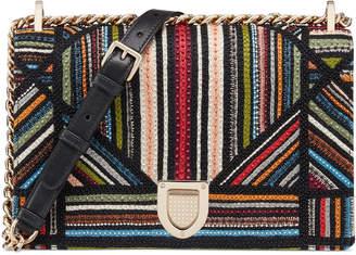Christian Dior Diorama Shoulder Bag Embroidered Black Multicolor