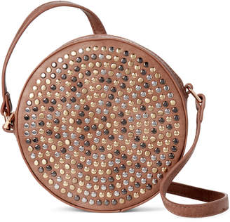 Street Level Taupe Studded Canteen Crossbody