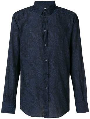 Dolce & Gabbana palm leaf printed shirt