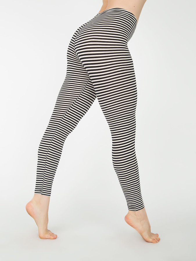 American Apparel Stripe Cotton Spandex Jersey Legging