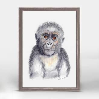 Oopsy Daisy Fine Art For Kids Gorilla Portrait by Brett Blumenthal Mini Canvas Framed Art