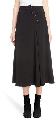 Yohji Yamamoto Y's by Button Detail A-Line Skirt
