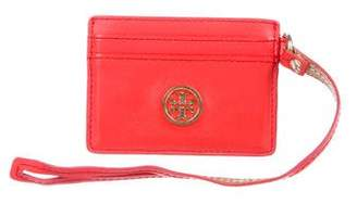 Tory Burch Logo Leather Card Holder