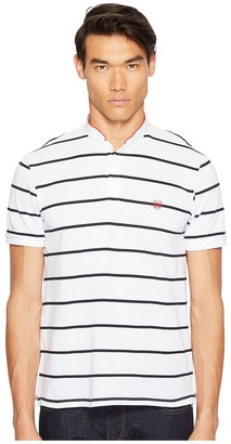 The Kooples - Striped Polo with Officer Collar Men's T Shirt $120 thestylecure.com