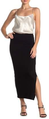 Velvet Torch Side Slit Knit Maxi Skirt