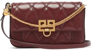 Givenchy Pocket Quilted Leather Cross Body Bag - Womens - Burgundy