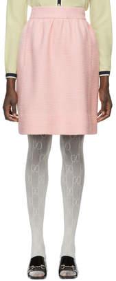 Gucci Pink Wool Tweed Miniskirt
