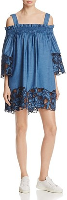KENDALL and KYLIE Cold Shoulder Chambray Dress $275 thestylecure.com