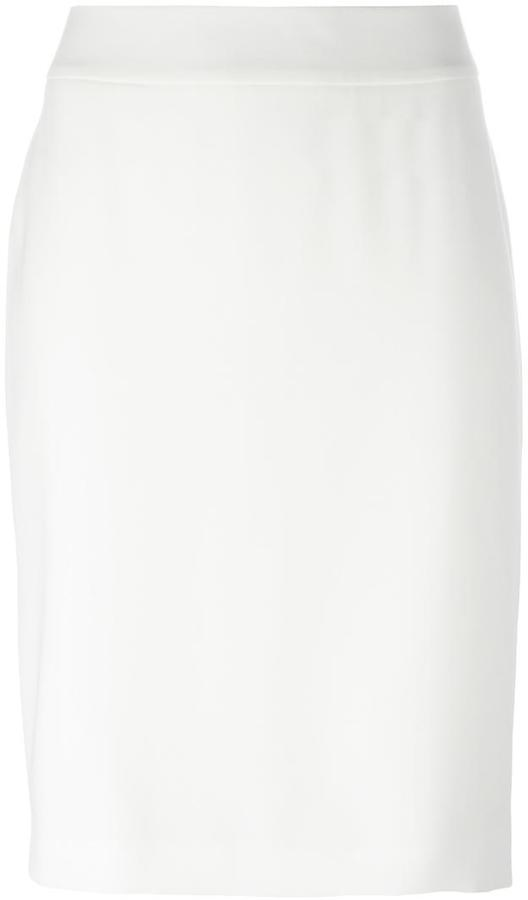 Armani Collezioni rear slit pencil skirt