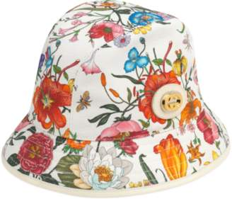 Gucci Fedora hat with Flora print