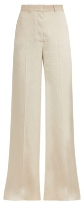 Stella McCartney Wide Leg Snake Jacquard Trousers - Womens - Ivory