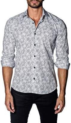 Jared Lang Paisley Trim Fit Shirt