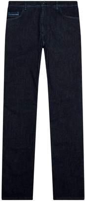 Zilli Crocodile Patch Stitch Jeans