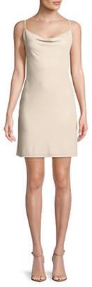 Cynthia Steffe Hazel Foil Crinkle Sheath Dress