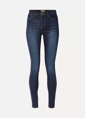 L'Agence Marguerite High-rise Skinny Jeans - Dark denim
