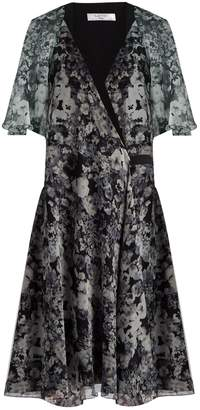 Lanvin Floral-print silk dress