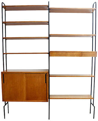 One Kings Lane Vintage Mid-Century Modern Hairpin Wall Unit - Castle Antiques & Design