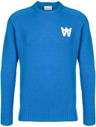 Wood Wood logo patch knitted sweater