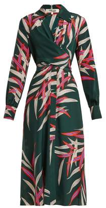 Diane von Furstenberg Von Quincy Hunter Print Silk Dress - Womens - Green Print