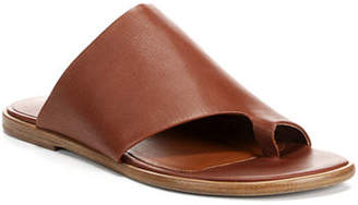 Vince Edris Flat Siviglia Leather Slide Sandal