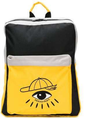 Kenzo eye patch backpack