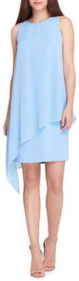 Tahari Sleeveless Chiffon Overlay Dress