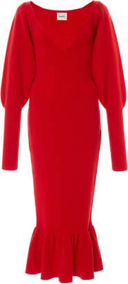 Khaite Ina Wool Knit Midi Dress