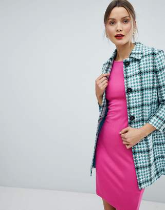 Helene Berman Checked Short Duster Jacket