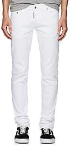 DSQUARED2 Men's Low-Rise Skinny Jeans - White Size 48 Eu