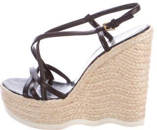 Saint LaurentYves Saint Laurent Espadrille Wedge Sandals