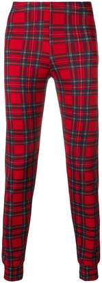 Comme des Garcons PRE-OWNED checkered fitted trousers